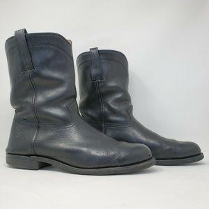 Frye Mens Duke Roper Leather Pull on Boots